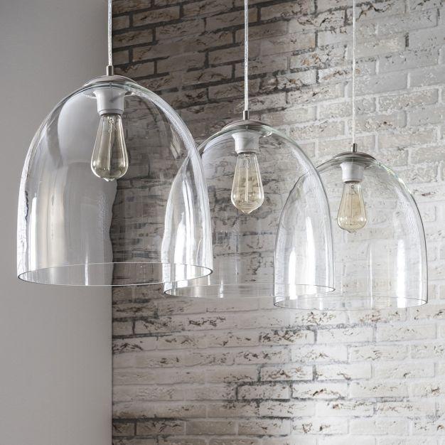 Vico Glass - hanglamp 3L - 130 x 33 x 150 cm - transparant