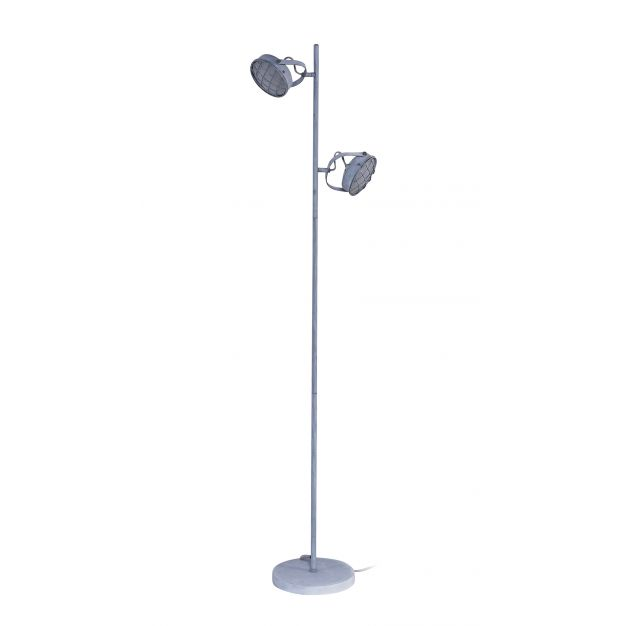 Vico Grill - staanlamp 2L - 150 cm - 2 x 5W LED incl. - betonlook