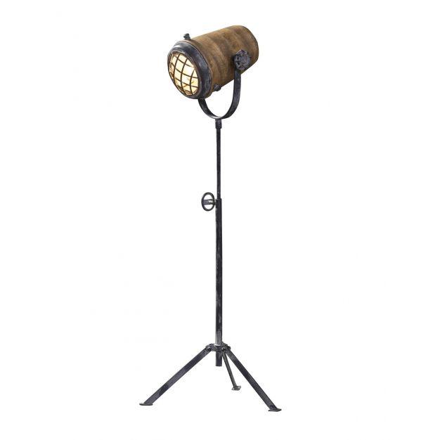 Vico Wood - staanlamp - 96 cm - mango hout