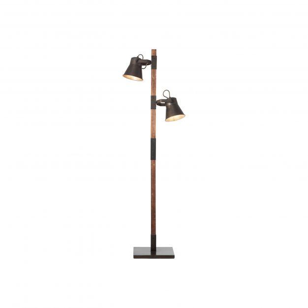 Brilliant Plow - staanlamp - 51 x 30 x 153,5 cm - zwart en bruin