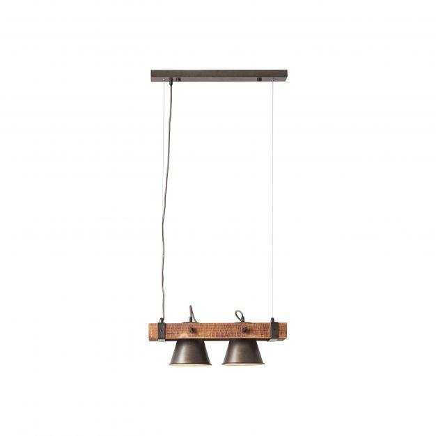 Brilliant Plow - hanglamp - 51 x 20 x 115 cm - zwart en bruin