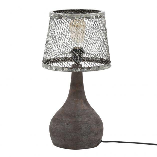 Vico Solid Wood - tafellamp - 50 cm - verweerd metaal