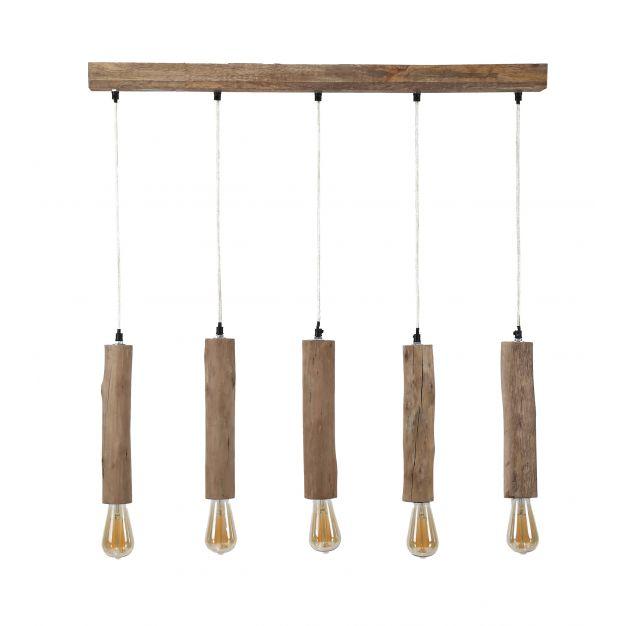 Vico Calyps - hanglamp 5L - 90 x 6 x 150 cm - eucalyptus