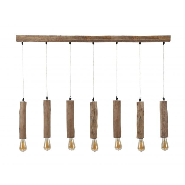 Vico Calyps - hanglamp 7L - 125 x 8 x 150 cm - eucalyptus