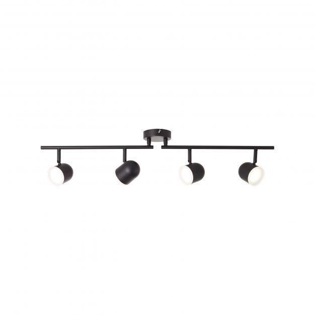 Brilliant Gretchen - opbouwspot 4L - 83,5 x 10 x 18,5 cm - 4 x 4,2W dimbare LED incl. - mat zwart (einde reeks!)