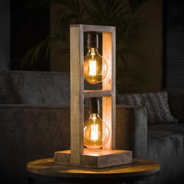 Vico Modulo - tafellamp - Ø 23 x 58 cm - acaccia hout