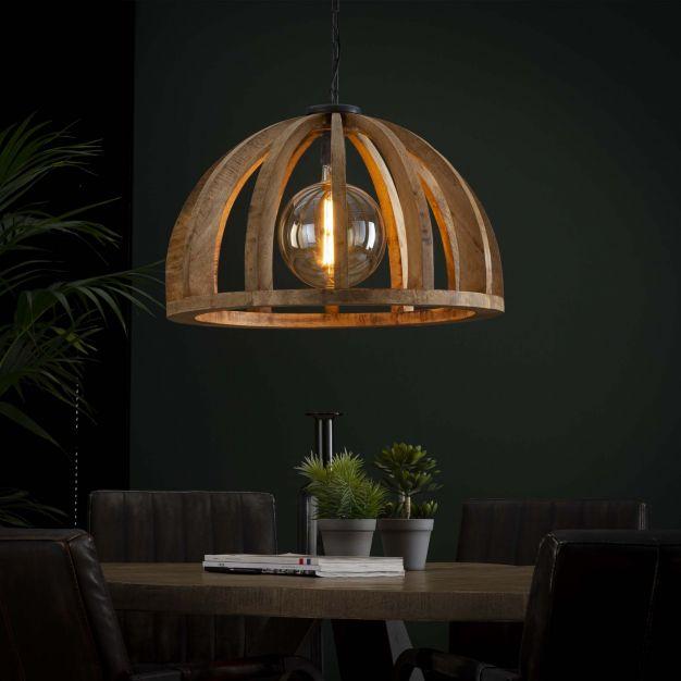 Vico Wooden Bars - hanglamp - Ø 62 x 150 cm - mango hout