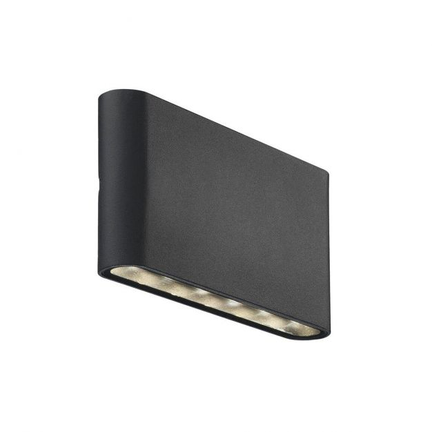 Nordlux Kinver - buiten wandverlichting - 17,5 x 9 x 3 cm - 2 x 6W LED incl. - IP54 - zwart