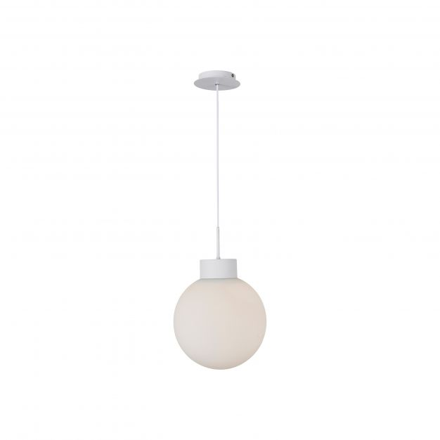 Brilliant Astro - hanglamp - Ø 30 x 120 cm - wit