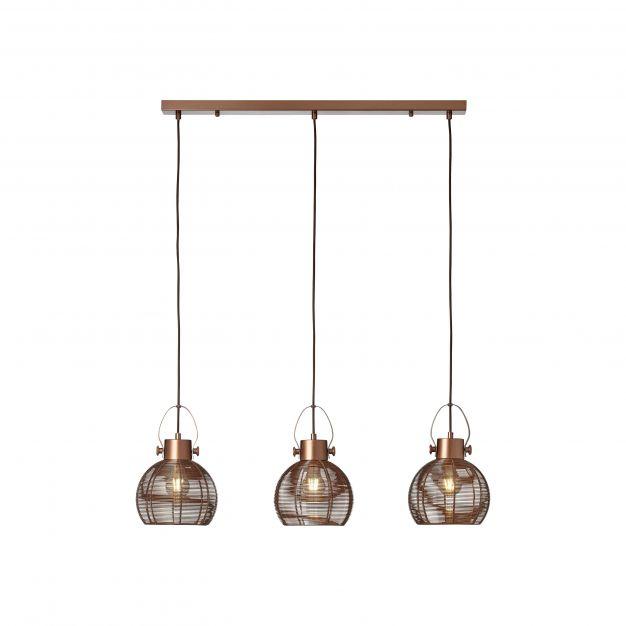 Brilliant Sambo - hanglamp - 87 x 20 x 115 cm - bruin