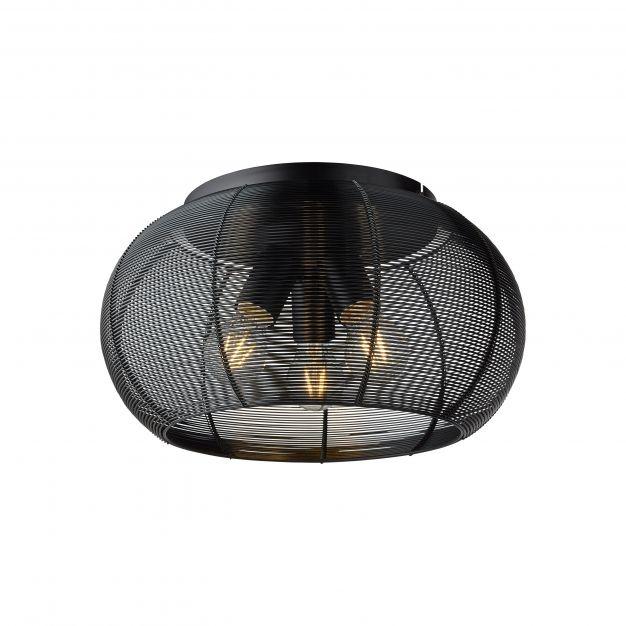 Brilliant Sambo - plafondverlichting - Ø 40 x 23 cm - zwart
