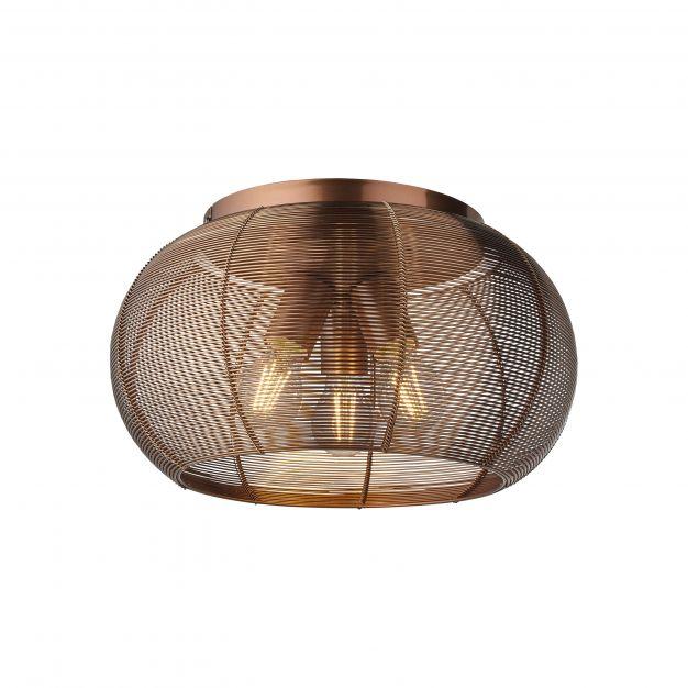 Brilliant Sambo - plafondverlichting - Ø 40 x 23 cm - bruin