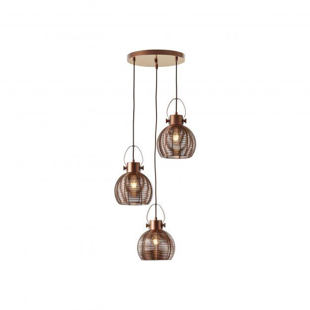 Brilliant Sambo - hanglamp - Ø 45 x 153 cm - bruin