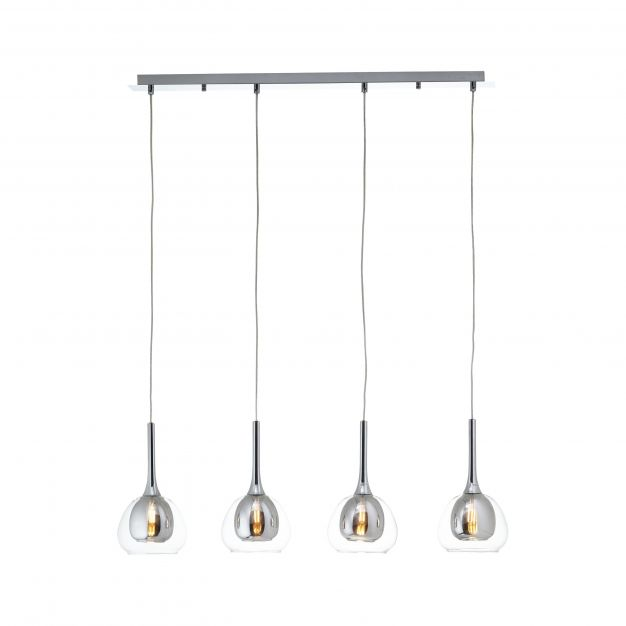 Brilliant Hadan - hanglamp - 91 x 16 x 120 cm - chroom