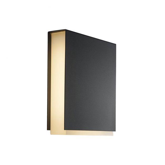 Nordlux Tamar Clips - buiten wandverlichting - 21 x 23 x 5,2 cm - 12W LED incl. - IP44 - zwart