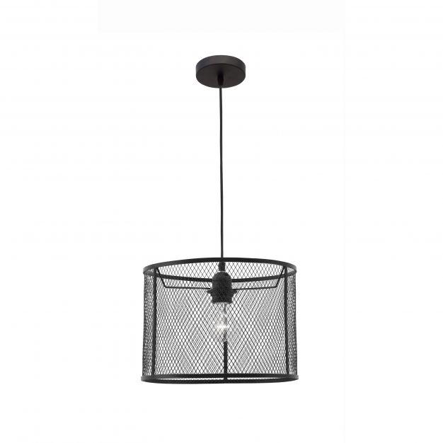 Nova Luce Net - hanglamp - Ø 30 x 140 cm - zwart