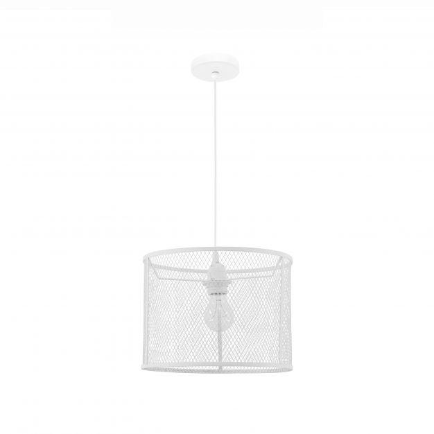 Nova Luce Net - hanglamp - Ø 30 x 140 cm - wit