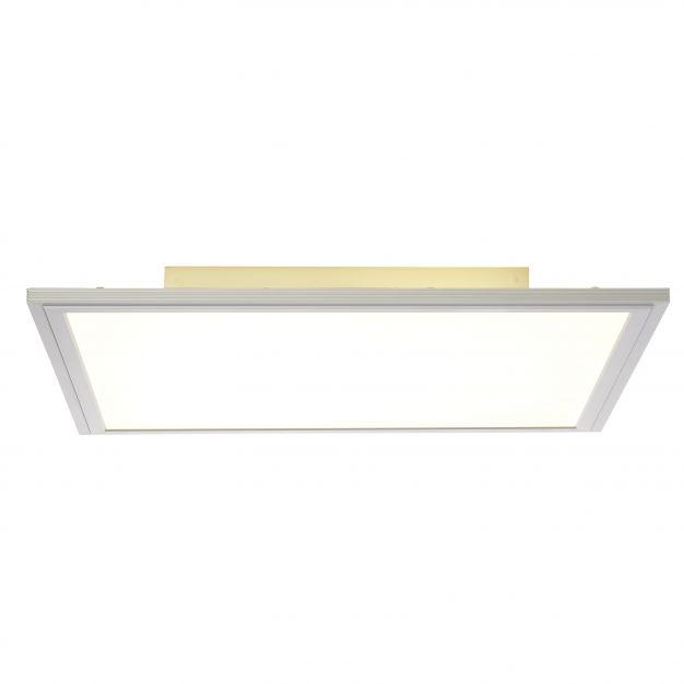 Brilliant Flat - plafondverlichting - 42 x 42 x 6 cm - 30W + 15W easydim LED incl. - alu / wit