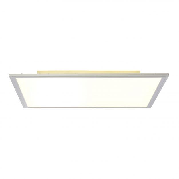 Brilliant Flat - plafondverlichting - 60 x 60 x 6 cm - 42W + 22W easydim LED incl. - satijn chroom