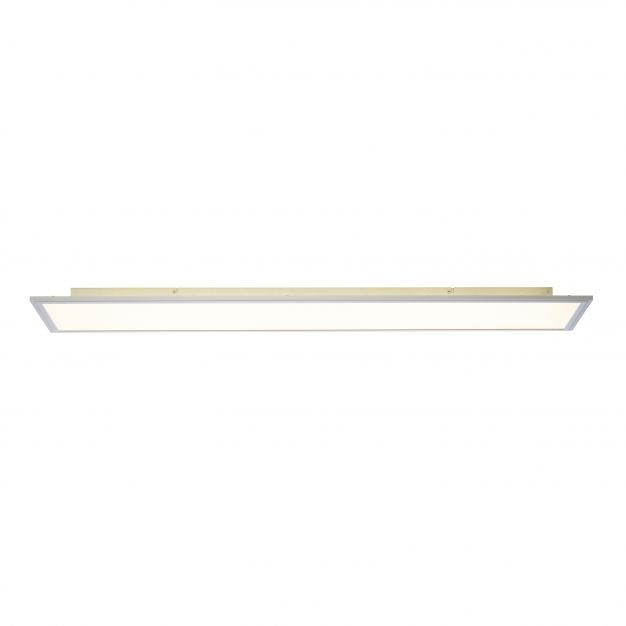 Brilliant Flat - plafondverlichting - 120 x 30 x 6 cm - 60W + 32W easydim LED incl. - alu / wit
