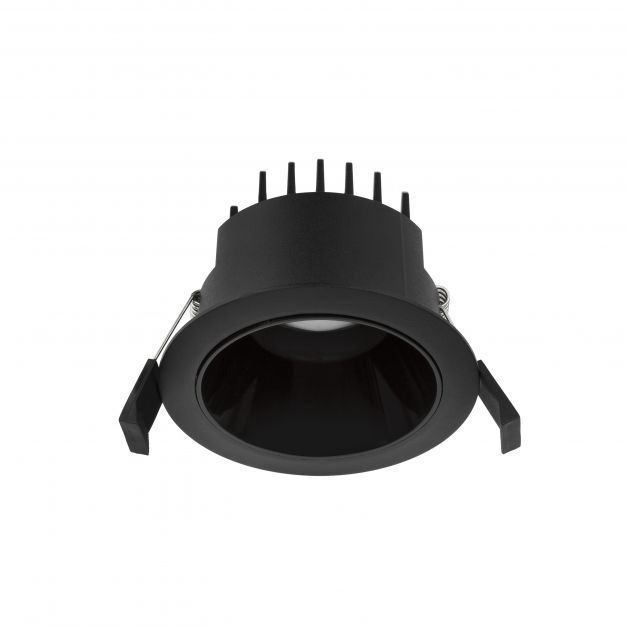 Nova Luce Carpo - inbouwspot - Ø 100 mm, Ø 90 mm inbouwmaat - 10W LED incl. - zwart