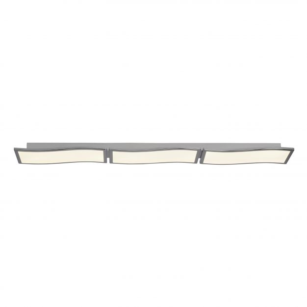 Brilliant Scope - plafondverlichting - 122 x 18 x 5 cm - 3 x 20W easydim LED incl. - wit / chroom