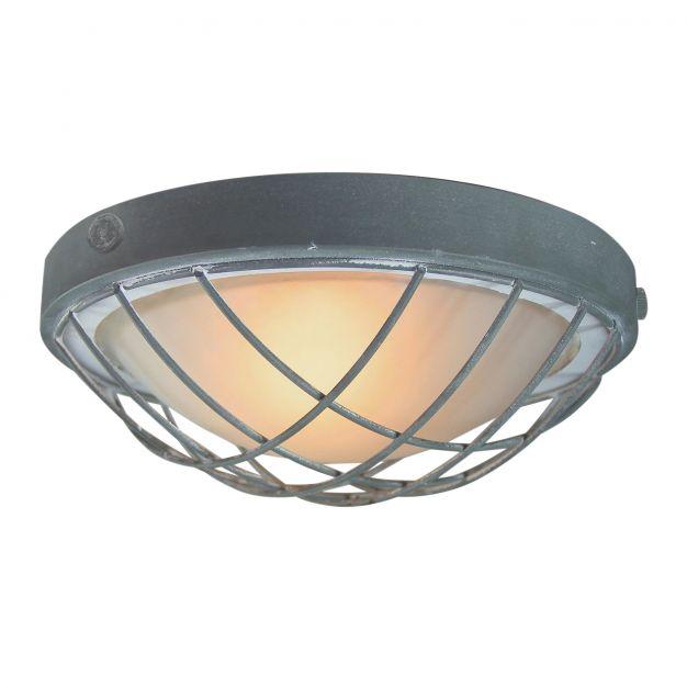 Brilliant Sirocco - plafondverlichting - Ø 31 x 13 cm - betongrijs