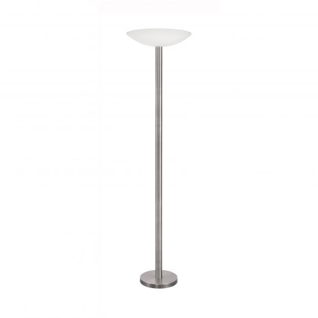 Nova Luce Rocco - staanlamp - Ø 45,5 x 181 cm - 30W dimbare LED incl. - satijn nikkel