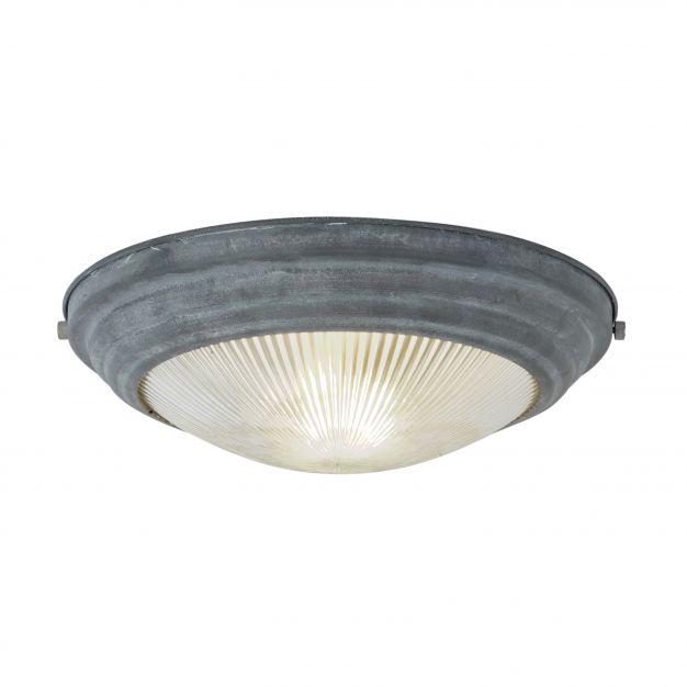 Brilliant Cyclone - plafondverlichting - Ø 33 x 12 cm - betongrijs