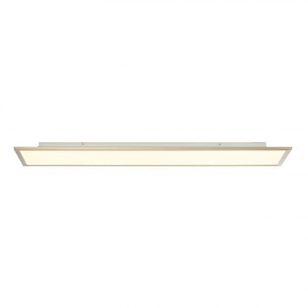 Brilliant Flat RGB - ledpaneel met afstandsbediening - 120 x 30 x 5 cm - 60W dimbare LED incl. met instelbare lichtkleur - geanodiseerde nikkel