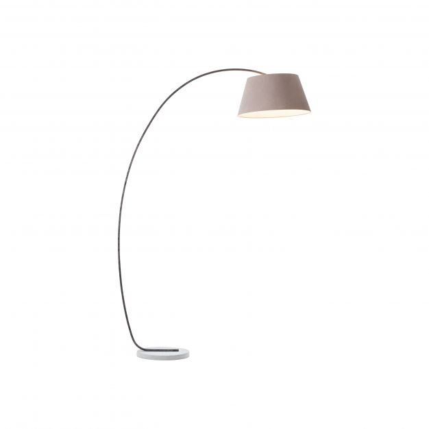 Brilliant Brok - staanlamp - 120,5 x 50 x 196 cm - bruin en grijs