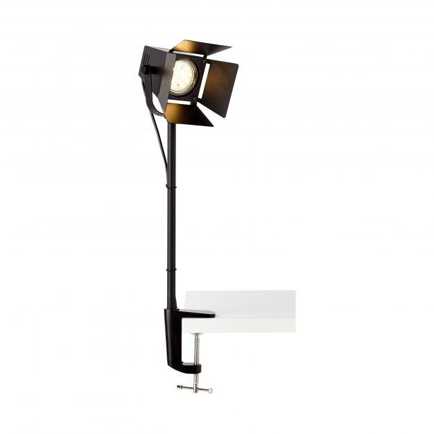 Brilliant Movie - klemlamp - 8,5 x 14 x 50 cm - mat zwart