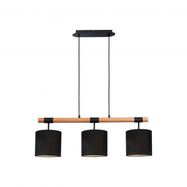 Brilliant Eloi - hanglamp - 80 x 18 x 97,5 cm - zwart en bruin
