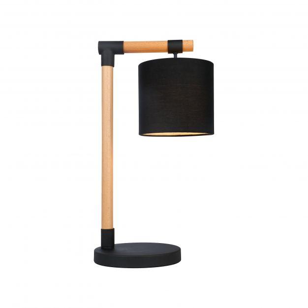 Brilliant Eloi - tafellamp - 27,5 x 20 x 50 cm - zwart en bruin