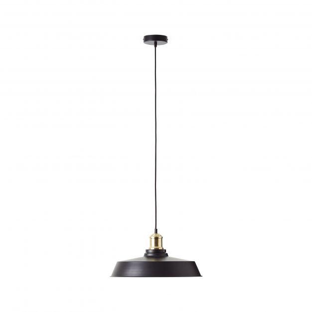 Brilliant Sutherland - hanglamp - Ø 40 x 104 cm - mat zwart