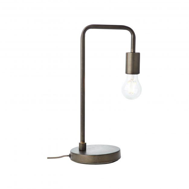 Brilliant Fila - tafellamp - 20 x 15 x 40 cm - antiek en zwart