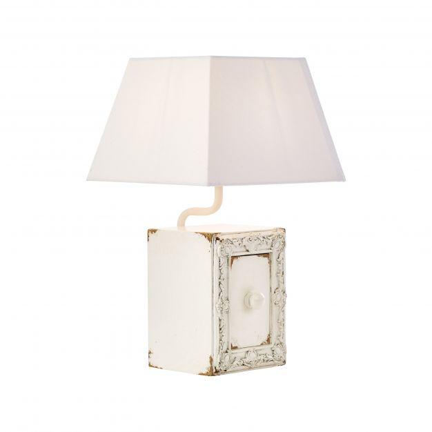 Brilliant Hide - tafellamp - 25 x 25 x 42 cm - wit hoogglans