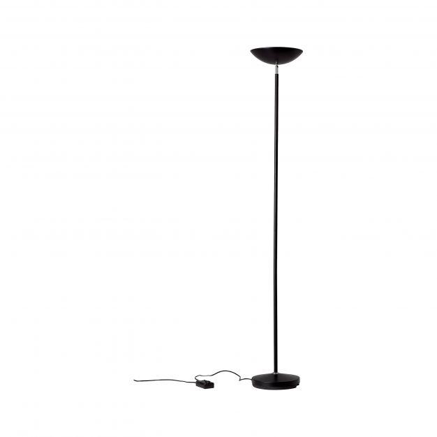 Brilliant Guernesey - staanlamp - Ø 28 x 175 cm - zwart