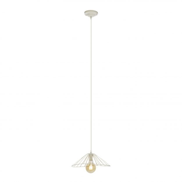 Brilliant Akola - hanglamp - Ø 36 x 143 cm - wit