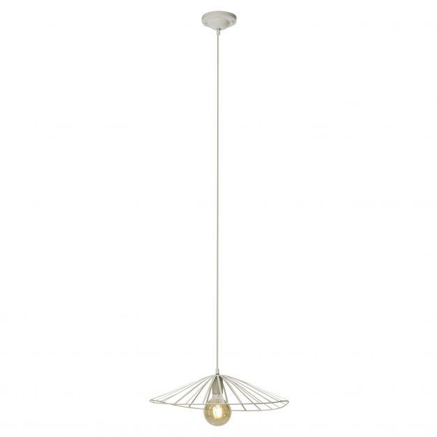 Brilliant Akola - hanglamp - 46 x 143 cm - wit