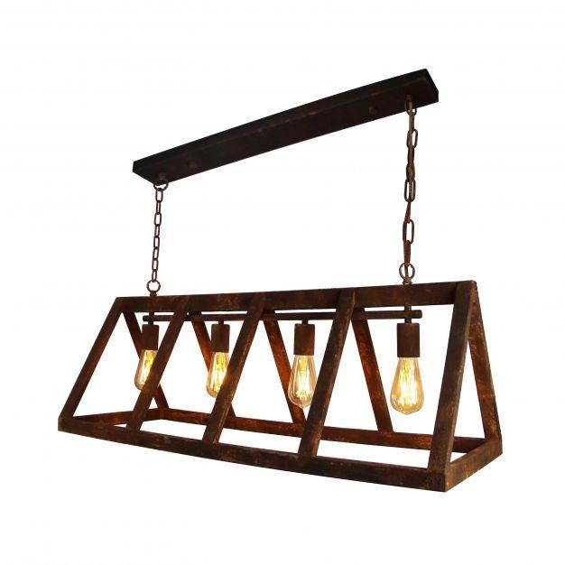 Brilliant Matrix - hanglamp - 95 x 35,5 x 127 cm - roestkleurig