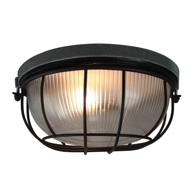 Brilliant Lauren - plafondverlichting - Ø 25 x 13 cm - beton / zwart
