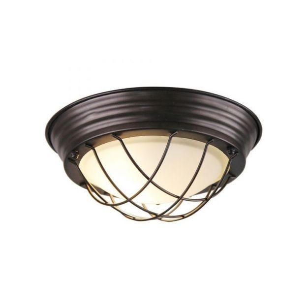 Brilliant Typhoon - plafond/wandverlichting - Ø 29 x 10 cm - zwart