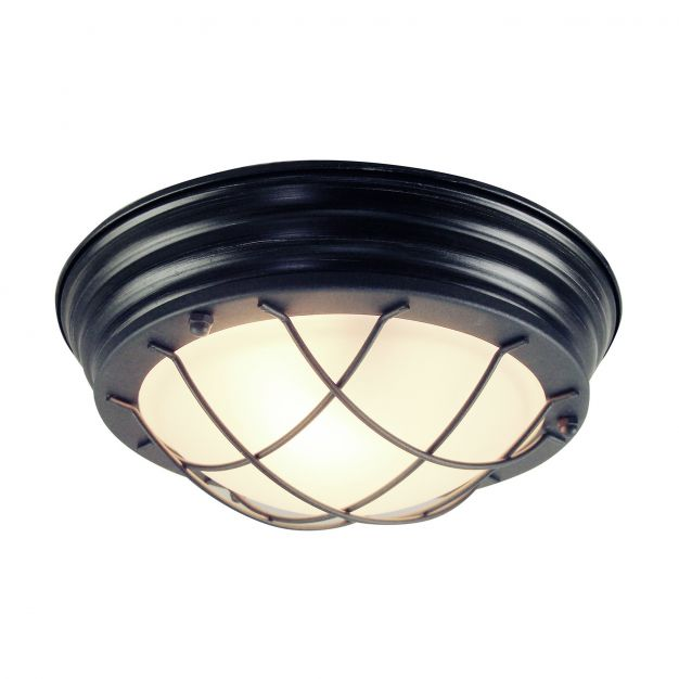 Brilliant Typhoon - wand / plafondverlichting - Ø 29 x 10 cm - zwart