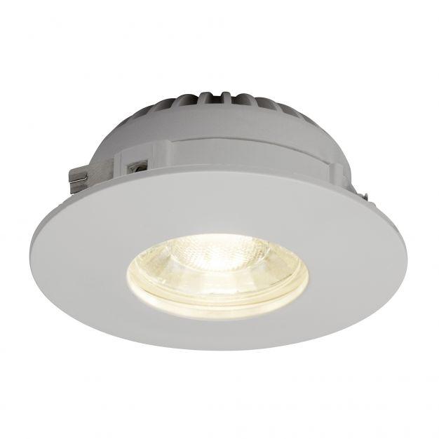 Brilliant Nodus - inbouwspot - Ø 82 mm, Ø 68 mm inbouwmaat - 4W LED incl. - IP44 - wit