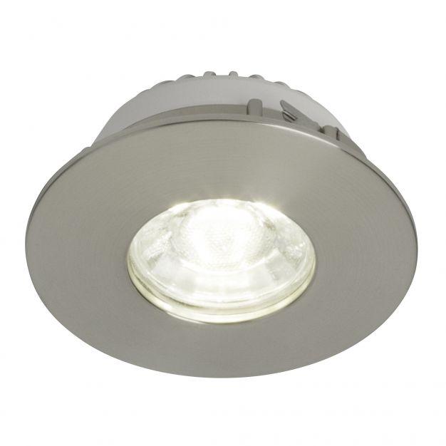 Brilliant Nodus - inbouwspot - Ø 82 mm, Ø 68 mm inbouwmaat - 4W LED incl. - IP44 - satijn chroom