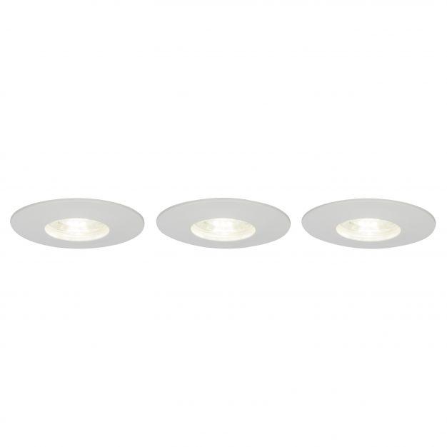Brilliant Nodus - set van 3 - Ø 82 mm, Ø 68 mm inbouwmaat - 4W LED incl. - IP44 - wit