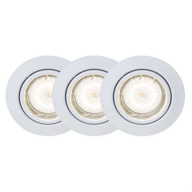 Brilliant Honor - set van 3 - Ø 90 mm, Ø 70 mm inbouwmaat - 5W LED incl. - wit