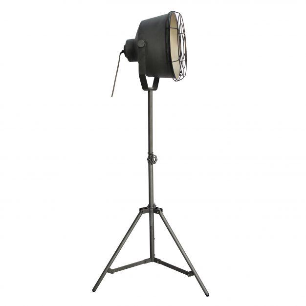 Brilliant Buck - staanlamp - 155 cm - gebrand staal