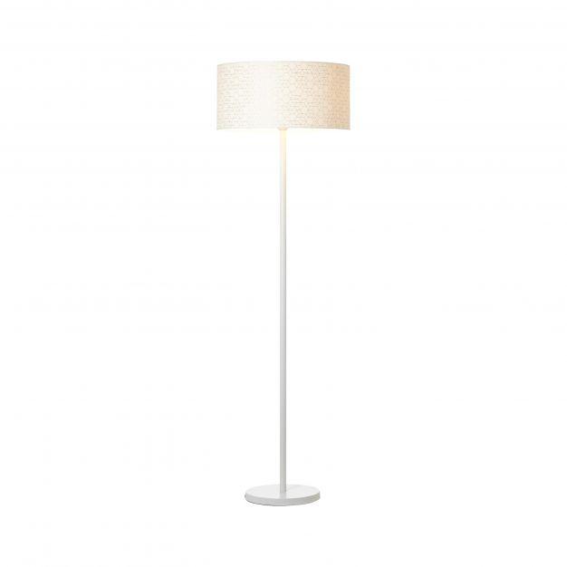 Brilliant Galance - staanlamp - 164,5 cm - wit